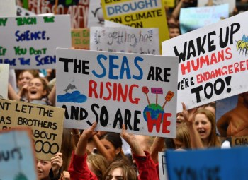 climate alarmists protesting