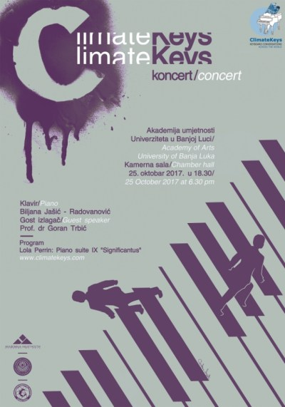 Poster for Bosnia ClimateKeys concert