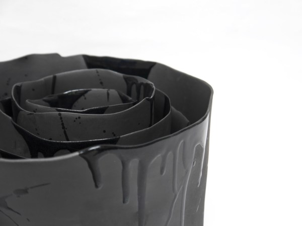 'Volcanic Black Container' (stacking set) Artist: Hilary Mayo