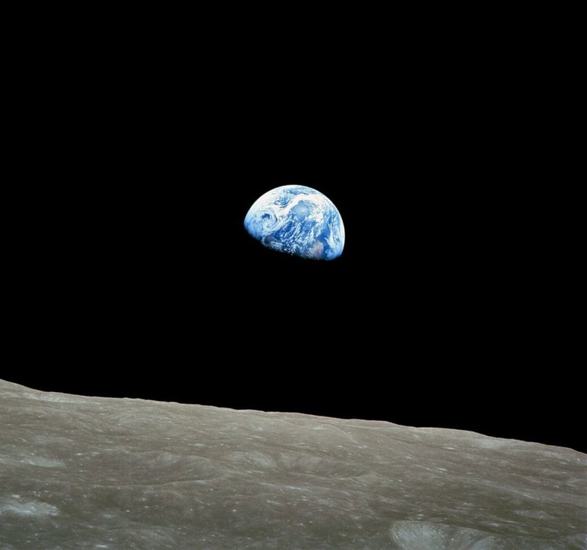 Earthrise, seen from Apollo 8, 24th December 1968