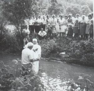 Mammaw getting baptized