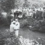 Mammaw getting baptized