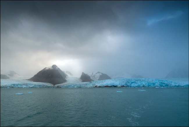 Showing Veronica Worrall's arctic photograph, 'Storm Passing'