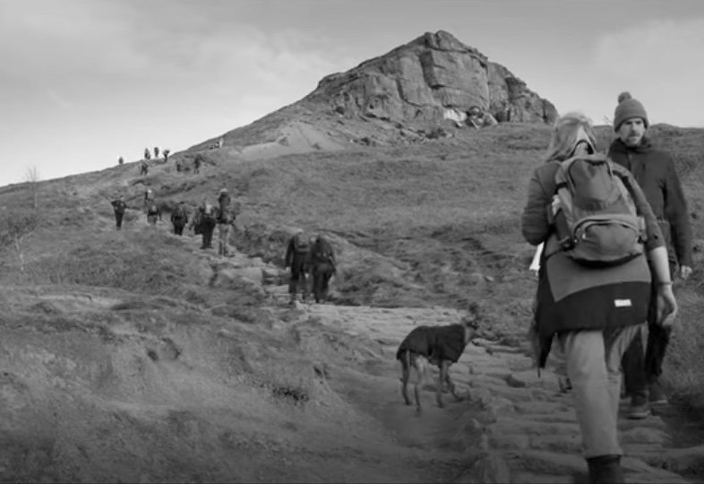 In convreation with the land: showing a still from the film These Hills Are Ours by Bevis Bowden