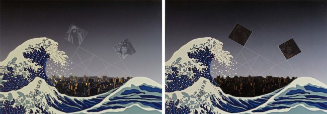 Managed retreat: showing 'A Japanese paradox at D0 and D+', a diptych by artist Yky