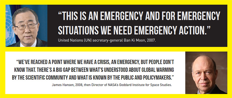 Ban Ki Moon and James Hansen: This is an emergency