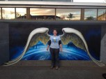 Unveiling Angel Wings Mural with the artist Jenny McCracken, May 2013