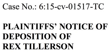 Rex Tillerson, ExxonMobil, Climate Change