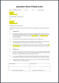 Draft text for a Climate leave Agreement - Click to open or download the document