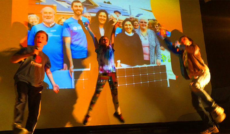 The Solar Buskers performed at the climate change forum Care for our common home