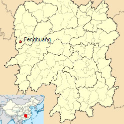 Fenghuang-map-location-Hunan-China-flooding-July-2014