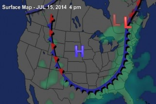 The jet stream is set to make a huge dip into the eastern U.S. this week.