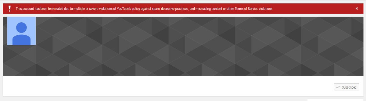 Another month another YouTube channel termination – Climate