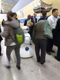 Every now and then, if you pause amid all the chaos at COP21, you might just spot a robot wandering the halls...