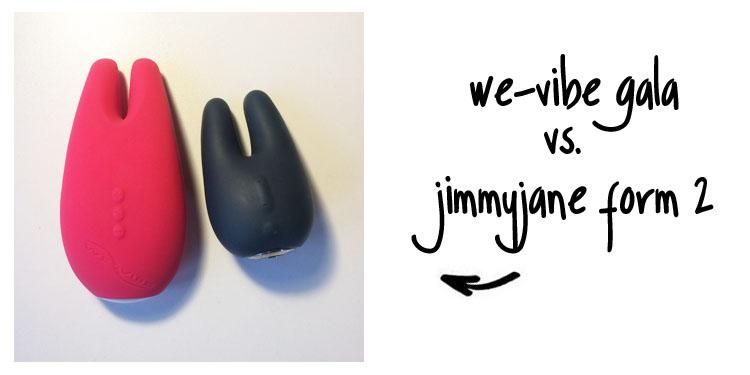 Dit is een afbeelding van we-vibe gala vs jimmyjane form 2