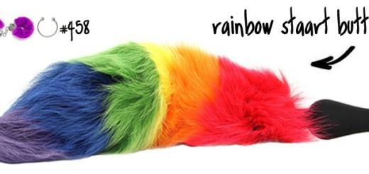 Dit is een afbeelding van rainbow staart buttplug