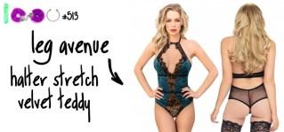 Dit is een afbeelding van leg avenue teddy lingerie setje review