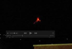 Erupción Volcán de Fuego, Guatemala 29-11-2015 20:00