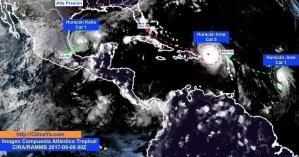 3 sistemas tropicales activos en el Atlántico Tropical