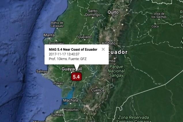 Sismo en Ecuador Información Preliminar