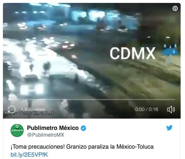 Granizo CDMX