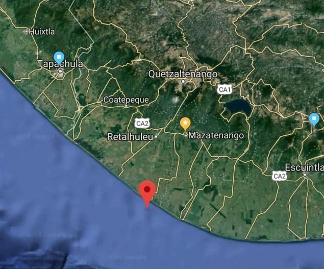 Epicentro preliminar sismo 8:45am 27-6-18