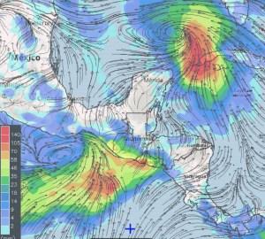 Lluvias próximas 24h hasta las 12pm del martes 9-10-18