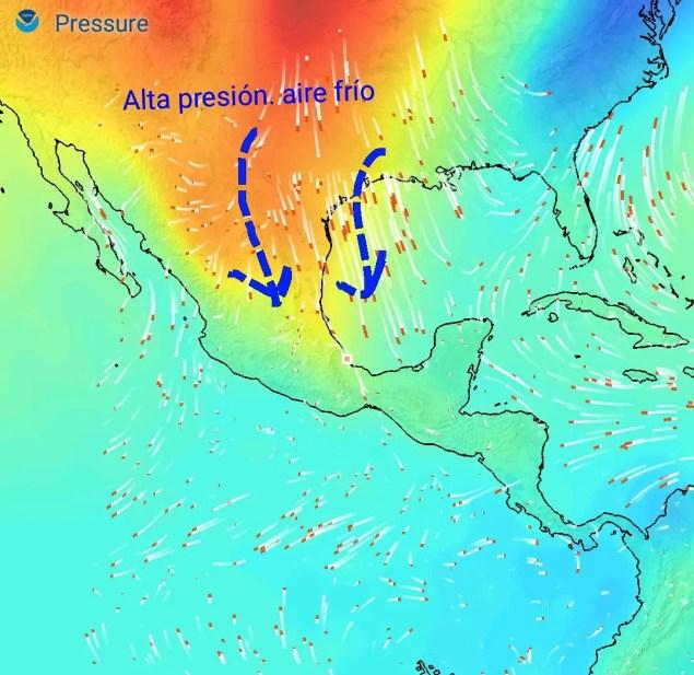 Masa de alta presión con aire polar llegando al Golfo de México afectará Centroamérica fin de semana hacia martes