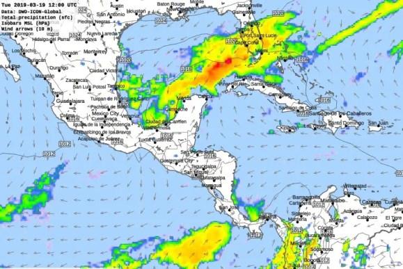 Lluvias previstas para el martes no se descartan tormentas en el norte de Yucatán