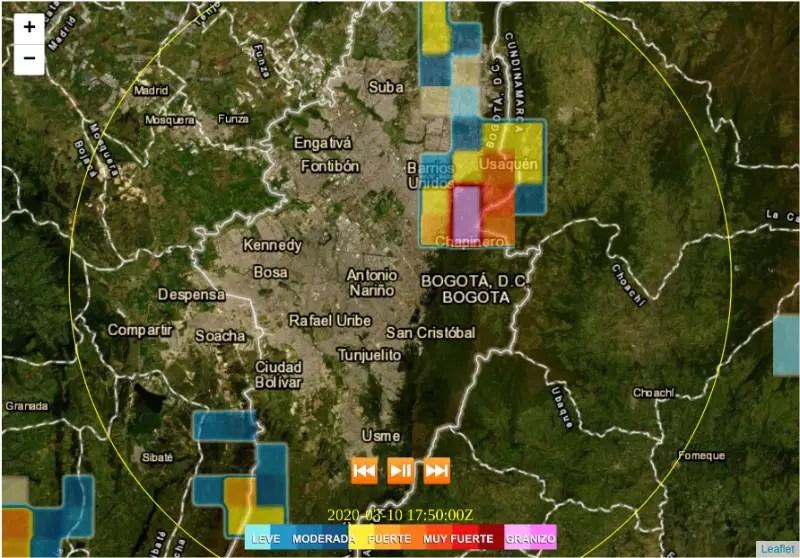 Imagen de radar en nuestro sitio