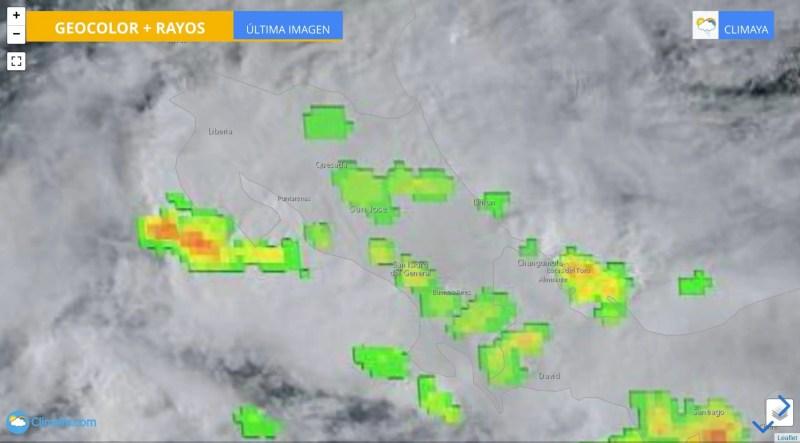 Tiempo inestable domina toda Costa Rica