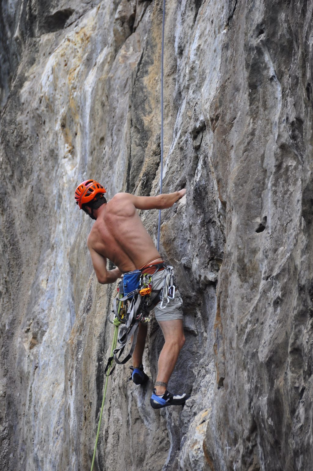 Climbing Cayman Brac - Working on routes