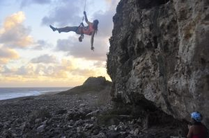 Climbing Cayman Brac - William