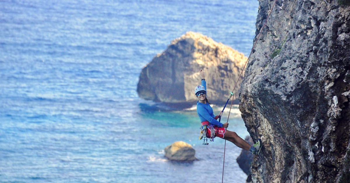 Climbing Cayman Brac - Bluff Rappel Tour - Angel