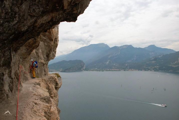 Via ferrata nad jeziorem Garda