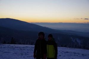 Na Hali Rysianka o wschodzie słońca