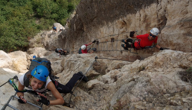 via ferrata Monte Albano nad Jeziorem Garda.