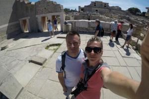 Selfie w Knossos