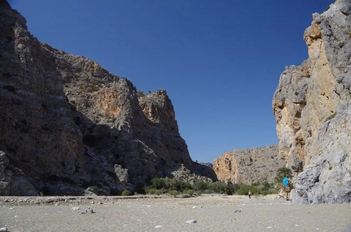Ściany wąwozu Agiofaragio