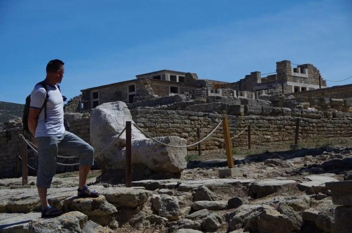 widok na pałac Knossos, Kreta
