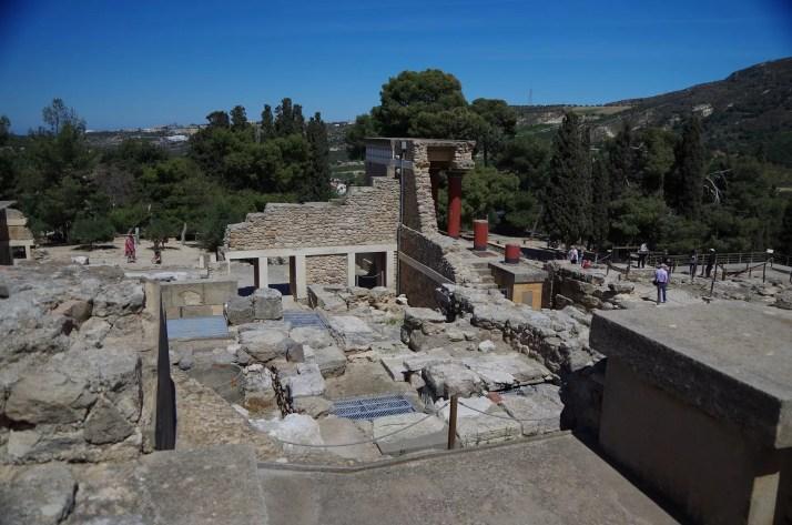 Imponujące ruiny zamku Knossos