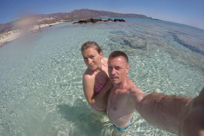 Kąpiel na Elafonisi