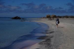 Rajska plaża Elafonisi, spacer