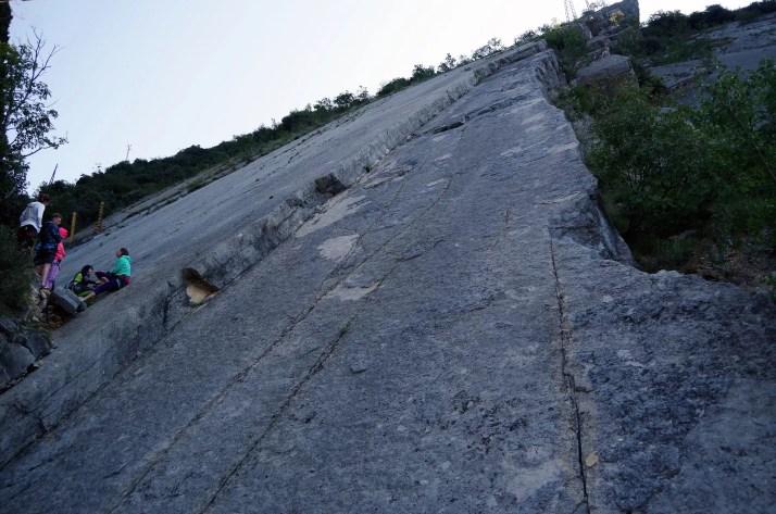 Drogi wspinaczkowe w rejonie Corno do Bo nad jeziorem Garda