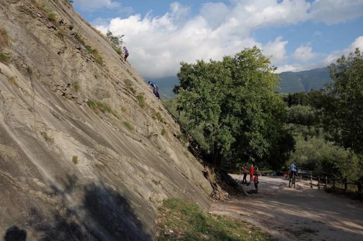 Rejon wspinaczkowy Placche di Baone nad jeziorem Garda