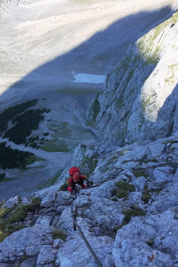 Pola na ferratcie Anna Klettersteig na Dachstein