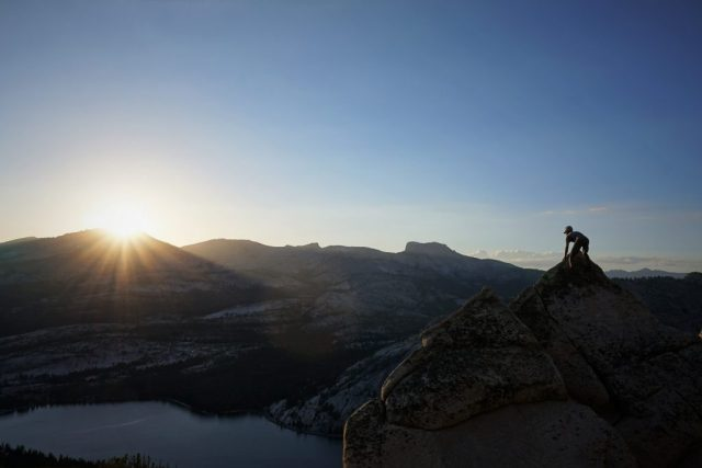 Tenaya Peak Sunset