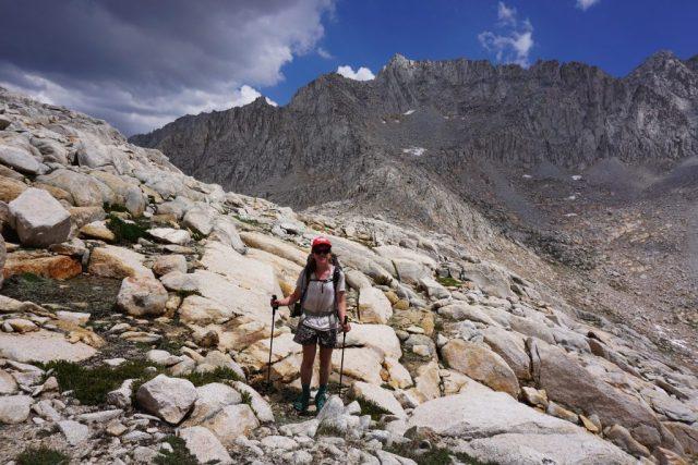 Descending Gabbot Pass