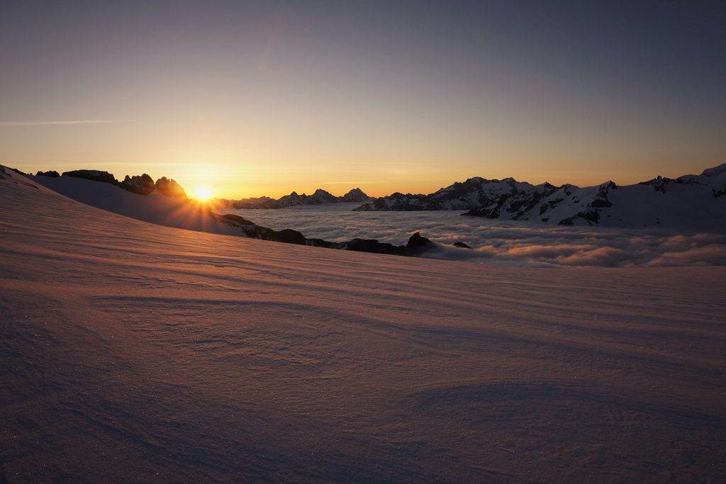 Inspiration Glacier Sunrise