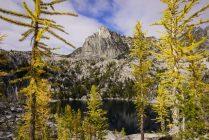Prusik Peak and Lake Viviane.